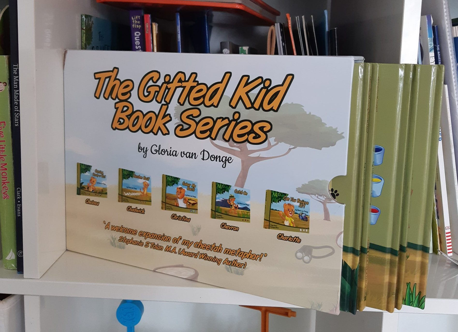 A photo of Gifted Kids Books Series written by Gloria van Donge