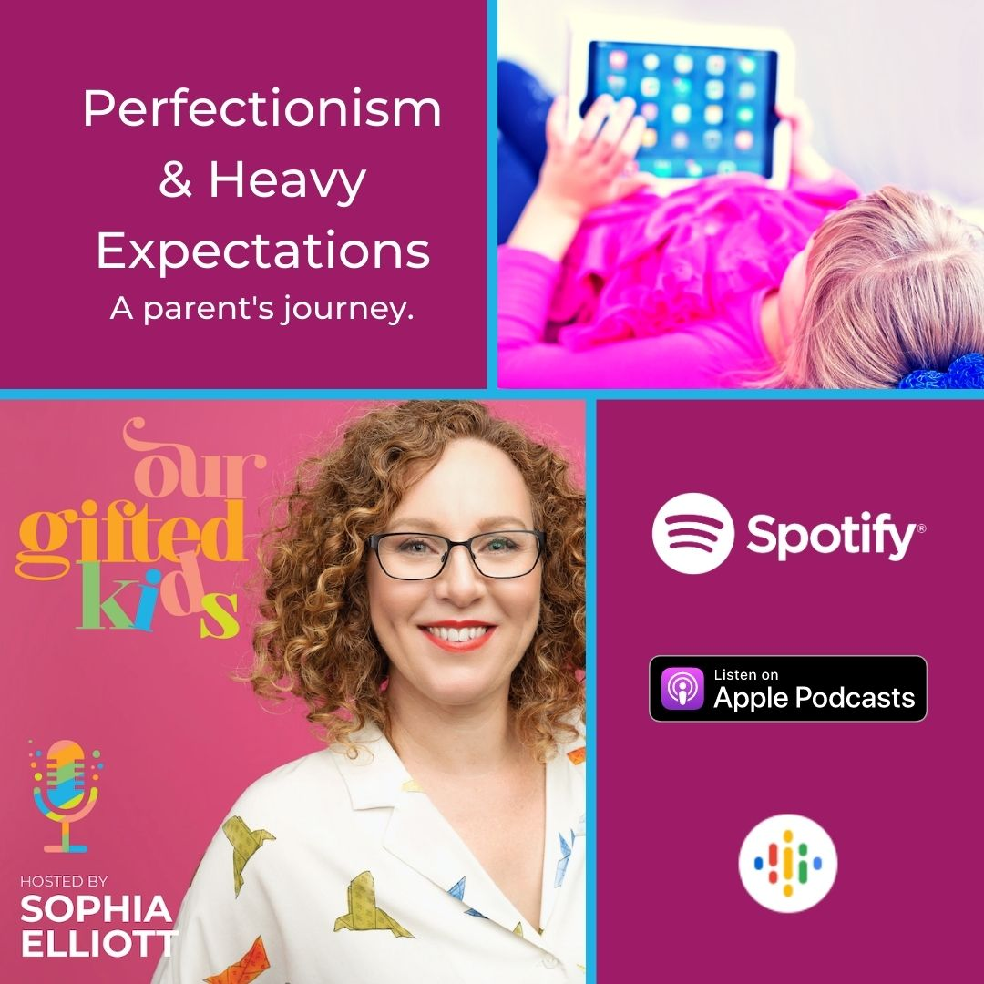 Our Gifted Kids Podcast Cover Perfectionism Episode